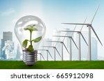 alternative energy concept with ... | Shutterstock . vector #665912098