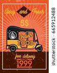 color vintage indian food banner   Shutterstock .eps vector #665912488
