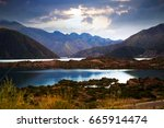 view of lake near potrerillos... | Shutterstock . vector #665914474