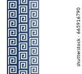 vector geometric frame in greek ...   Shutterstock .eps vector #665916790