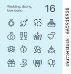outline wedding  dating  love... | Shutterstock .eps vector #665918938