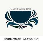 vector logo design element with ... | Shutterstock .eps vector #665923714
