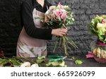 Female Florist Creating...