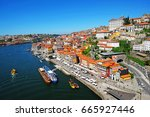 porto  portugal old town... | Shutterstock . vector #665927446