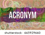acronym  information technology ... | Shutterstock . vector #665929660