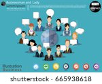 businessman and  lady 12 person ... | Shutterstock .eps vector #665938618