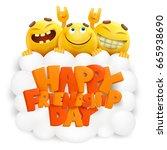 happy friendship day invitation ... | Shutterstock .eps vector #665938690