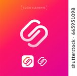abstract letter s logo template.... | Shutterstock .eps vector #665951098
