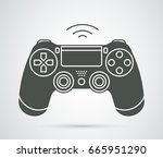simple vector gamepad icon.... | Shutterstock .eps vector #665951290