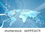 world map abstract concept... | Shutterstock .eps vector #665951674