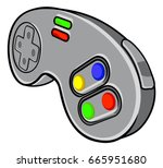 a video games console... | Shutterstock .eps vector #665951680