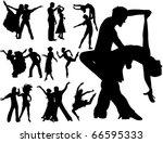 dancing couples | Shutterstock .eps vector #66595333