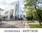 view on the modern office... | Shutterstock . vector #665973028