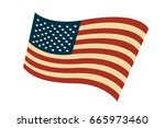 usa flag in style vector | Shutterstock .eps vector #665973460