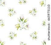 seamless pattern of delicate... | Shutterstock .eps vector #665975110