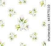 seamless pattern of delicate... | Shutterstock .eps vector #665975110