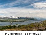 panoramic view of tromso  ... | Shutterstock . vector #665985214
