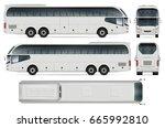bus vector mock up for... | Shutterstock .eps vector #665992810