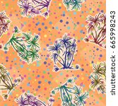 exotic seamless pattern ... | Shutterstock .eps vector #665998243
