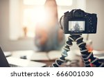 screen of camera recording a... | Shutterstock . vector #666001030