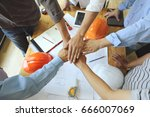 work group of gngineer  people... | Shutterstock . vector #666007069