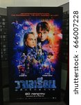 Small photo of Bangkok, Thailand - June 24, 2017: Standee of The Movie Valerian and the City of a Thousand Planets displays at the theater
