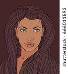 vector illustration of afro...   Shutterstock .eps vector #666011893