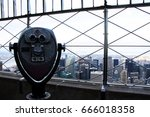 binoculars viewing over... | Shutterstock . vector #666018358