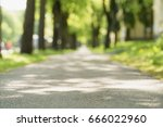 low angle of sidewalk in city... | Shutterstock . vector #666022960