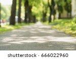 low angle of sidewalk in city... | Shutterstock . vector #666022960