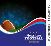 american football background.... | Shutterstock .eps vector #666025450
