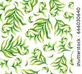 summer leaves. seamless...   Shutterstock . vector #666030640