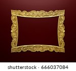 blank decorative picture wall... | Shutterstock . vector #666037084