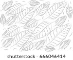 leaves background.   drawing... | Shutterstock .eps vector #666046414