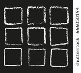 set of nine frames chalk on a...   Shutterstock .eps vector #666050194