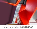 stairs. top view of modern... | Shutterstock . vector #666070360