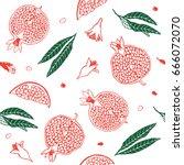 Pattern Pomegranate Fruit....