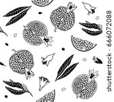 Pattern Pomegranate Fruit....