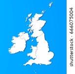 3d illustration of british isles   Shutterstock . vector #666075004