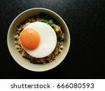 bowl of egg fried rice an...