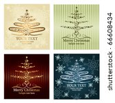 set of four beautiful christmas ... | Shutterstock .eps vector #66608434