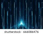 abstract digital science... | Shutterstock . vector #666086476