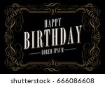 ornamental birthday greetings... | Shutterstock .eps vector #666086608