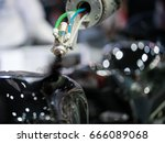 auto air painting line for... | Shutterstock . vector #666089068