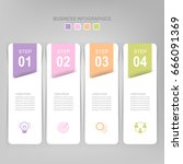 infographic template of four... | Shutterstock .eps vector #666091369