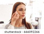 portrait of a beautiful model... | Shutterstock . vector #666092266