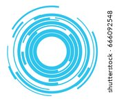 concentric rings sound wave... | Shutterstock .eps vector #666092548