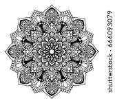 mandalas for coloring book.... | Shutterstock .eps vector #666093079