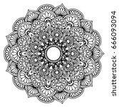 mandalas for coloring book.... | Shutterstock .eps vector #666093094
