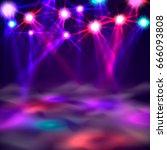 dance floor banner  light and... | Shutterstock .eps vector #666093808